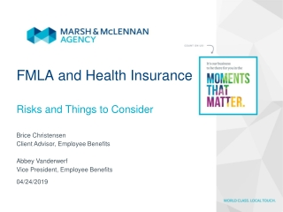 FMLA and Health Insurance