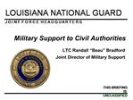 Military Support to Civil Authorities