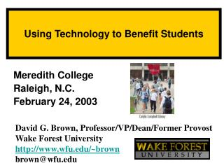 Using Technology to Benefit Students