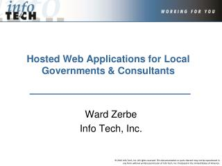 Hosted Web Applications for Local Governments & Consultants