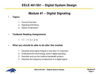 EELE  461/561 – Digital System Design