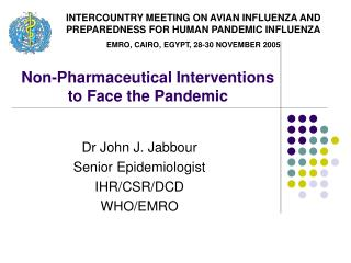 Non-Pharmaceutical Interventions to Face the Pandemic