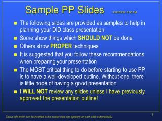 Sample PP Slides 3/22/2006 10:36 AM