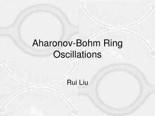 Aharonov-Bohm Ring Oscillations