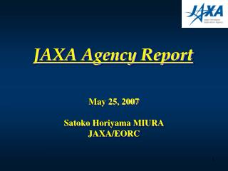 JAXA Agency Report