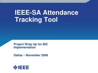 IEEE-SA Attendance Tracking Tool