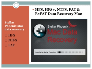 HFS, HFS , FAT, EXFAT and NTFS data recovery Mac