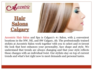 Hair Salon Calgary