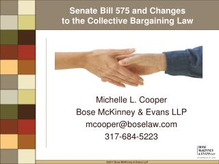 Senate Bill 575 and Changes to the Collective Bargaining Law