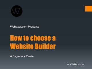 how to choose a website builder
