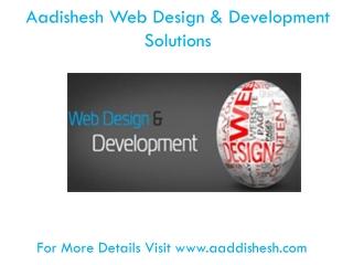 Aadishesh - Webdesign And Development Solutions