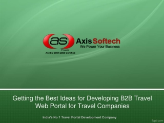 Getting the Best Ideas for Developing B2B Travel Web Portal