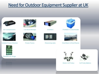 Need for Outdoor Equipment in UK