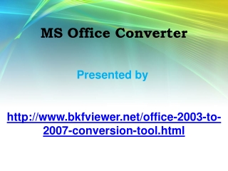 MS Office Converter