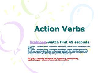 Action Verbs brainpop -watch first 45 seconds