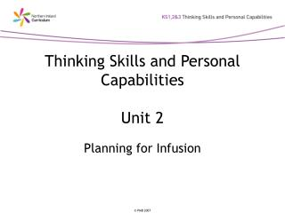 Thinking Skills and Personal Capabilities Unit 2