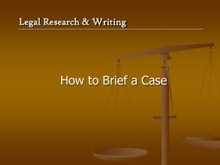 How to Brief a Case