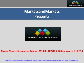 Global Neurostimulation Market worth US$10.2 Billion By 2014