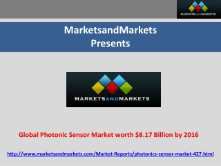 Global Photonic Sensor Market worth $8.17 Billion by 2016
