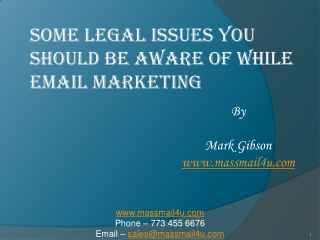 SOME LEGAL ISSUES YOU SHOULD BE AWARE OF while email marketi