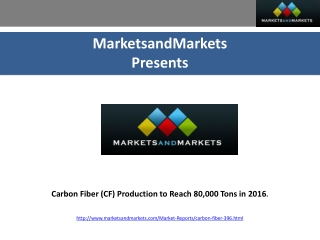 Carbon Fiber Production to Reach 80,000 Tons in 2016;US and