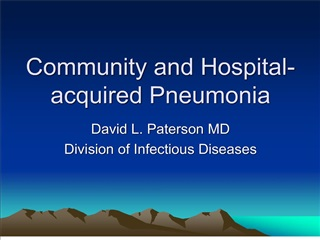 community and hospital-acquired pneumonia