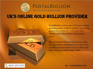 Secure your investments by buying gold bullion or coins