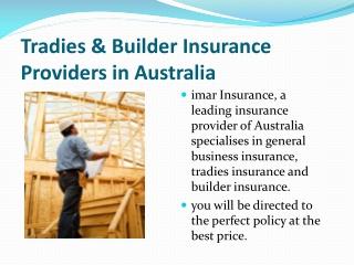 Builder Insurance Provider in Australia