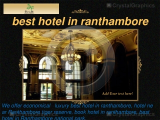 best hotel in ranthambore