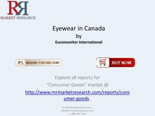 Latest Eyewear in Canada Industry Overview and Forecast to 2