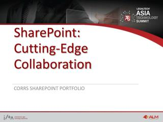 SharePoint:  Cutting-Edge Collaboration