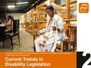 Current Trends in Disability Legislation