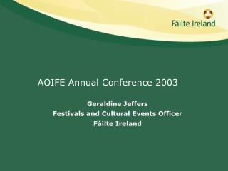 AOIFE Annual Conference 2003