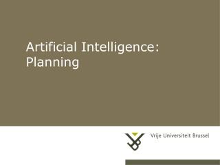 Artificial Intelligence: Planning