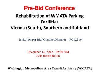 Washington Metropolitan Area Transit Authority (WMATA)