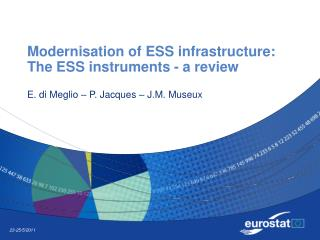 Modernisation of ESS infrastructure: The ESS instruments - a review