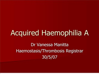 acquired haemophilia a