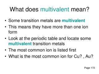 What does multivalent mean?