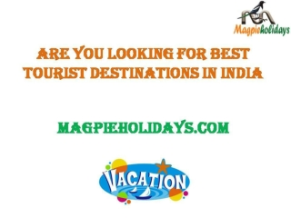 Are you looking for best tourist destinations in India