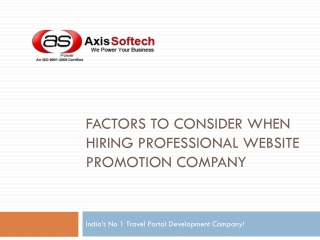 Factors to Consider When Hiring Professional Website Promoti