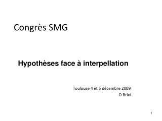 Congrès SMG