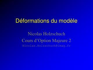 Déformations du modèle
