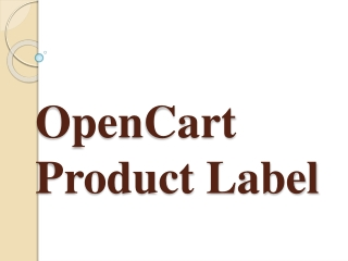OpenCart Product Label