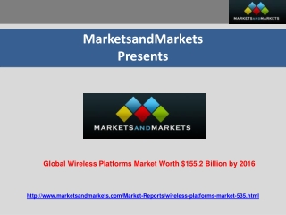 Global Wireless Platforms Market worth $155.2 Billion by 201