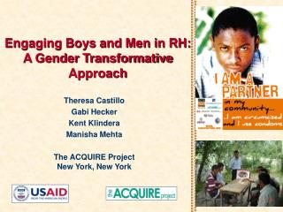 Engaging Boys and Men in RH: A Gender Transformative Approach
