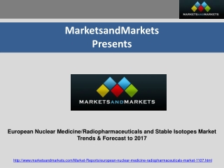 European Nuclear Medicine/Radiopharmaceuticals and Stable Is