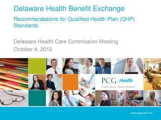 Delaware Health Benefit Exchange  Recommendations for Qualified Health Plan QHP Standards