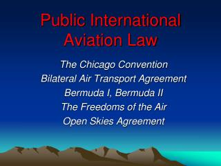 Public International Aviation Law