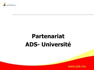 Partenariat  ADS- Université