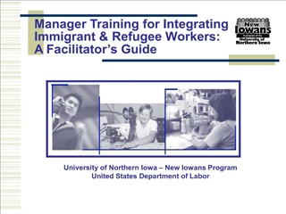 manager training for integrating immigrant  refugee workers:  a facilitator s guide